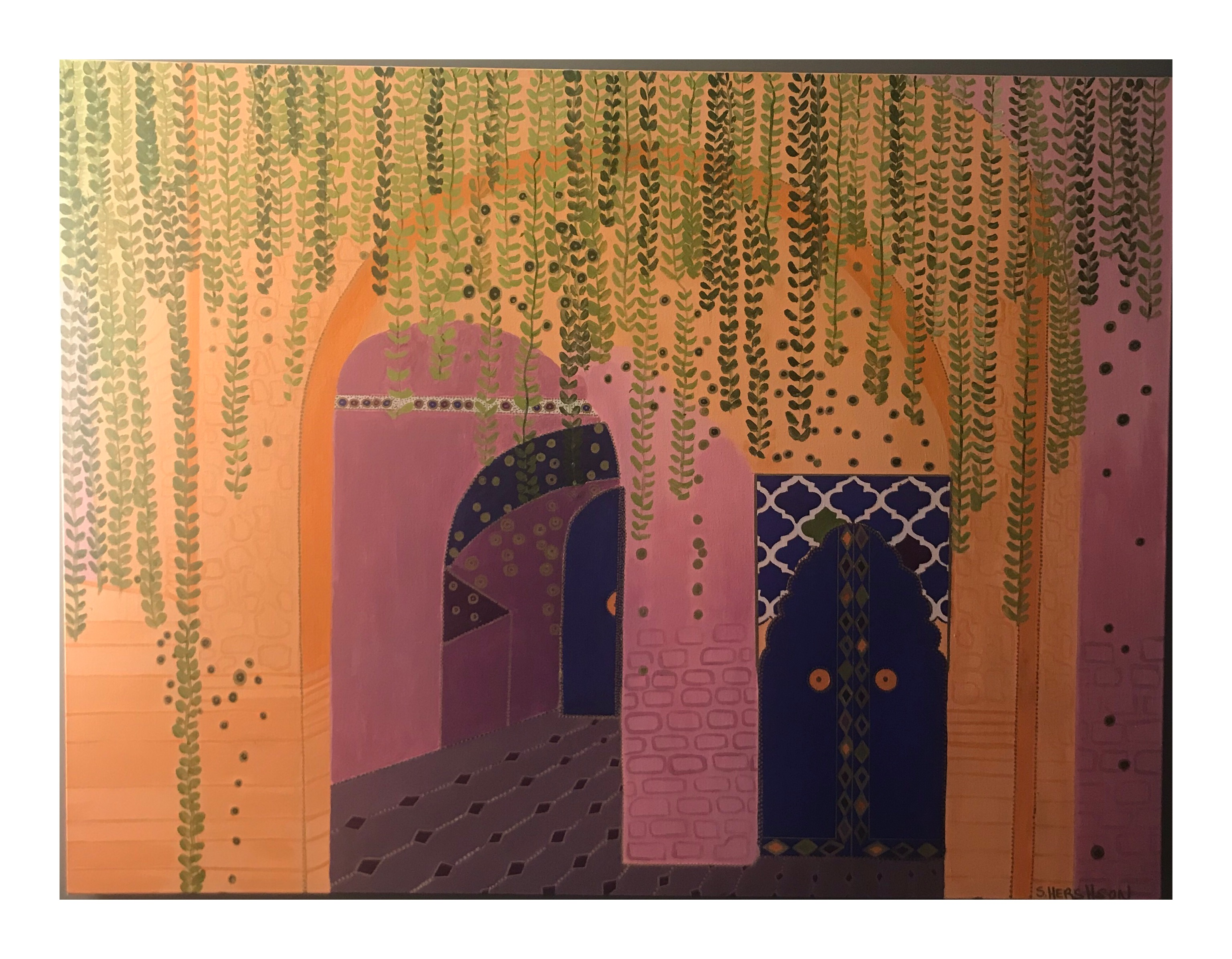 Path in Marrakech 48 x 36