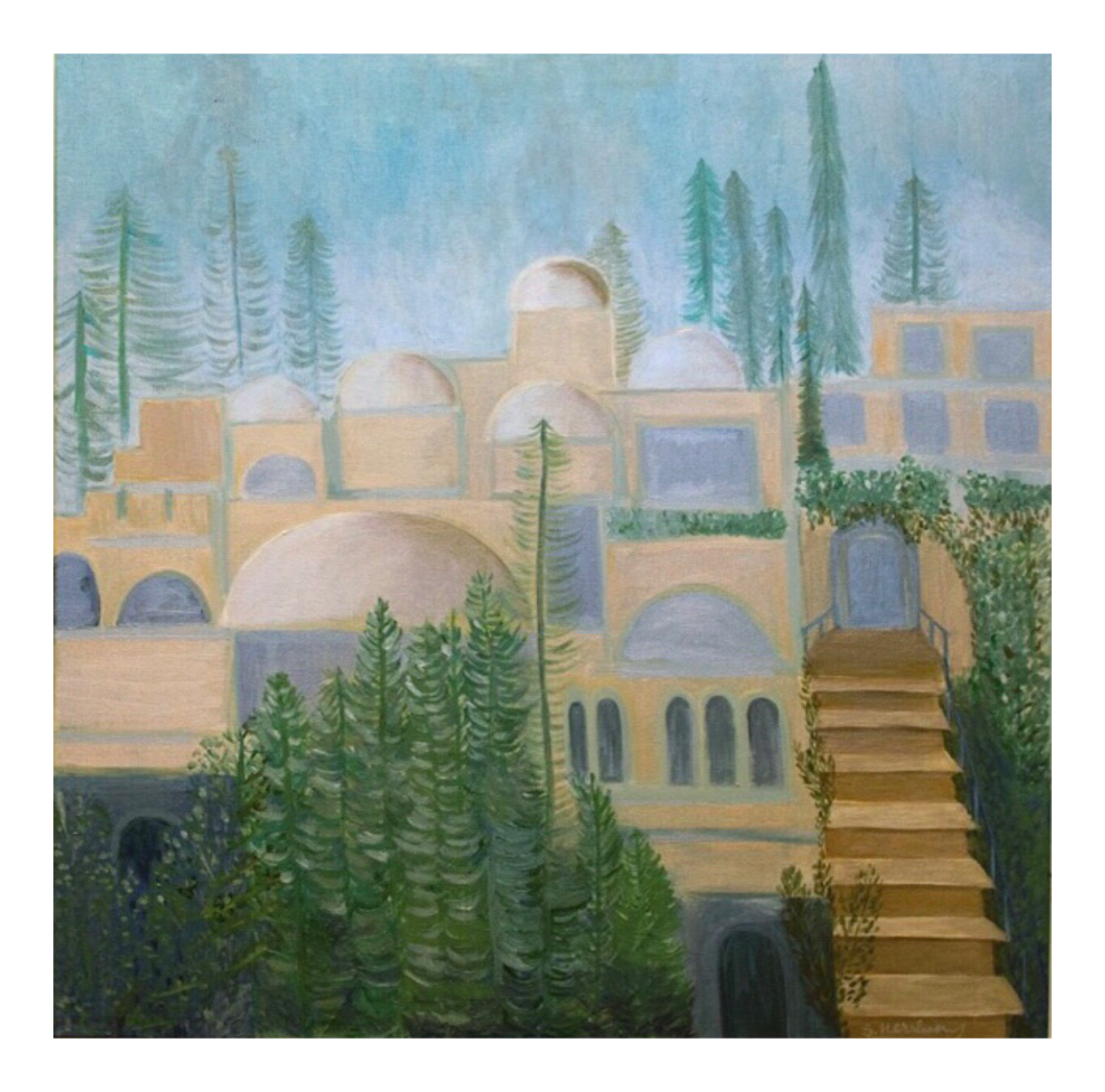 The Golden City 36 x 36
