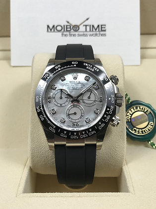 Rolex Cosmograph Daytona 18ct White Gold Mother of Pearl Diamonds Dial 116519LN