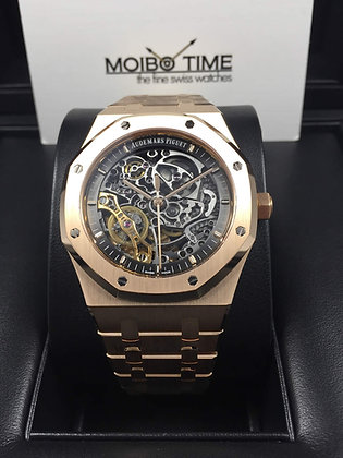 Audemars Piguet Royal Oak 18K Pink Gold Double Balance Wheel Openworked 15407OR