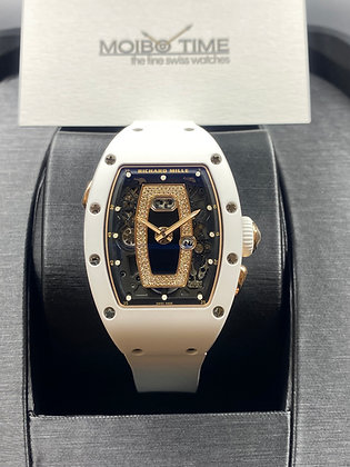 Richard Mille RM037 18K Red Gold White Ceramic Onyx Dial
