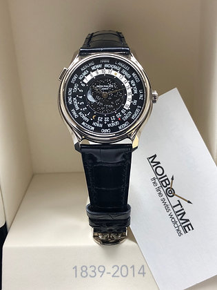 Patek Philippe 175th Anniversary 18K White Gold World Time Moon 5575G-001