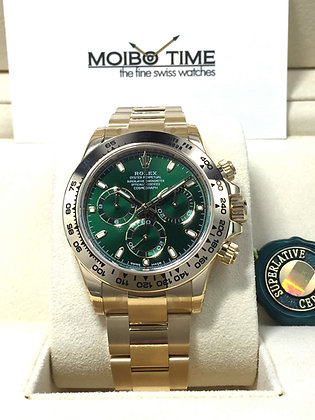 Rolex Yellow Gold Cosmograph Daytona Green Dial 116508