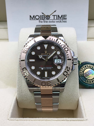 Rolex Yacht Master 18ct Everose Gold Steel Chocolate Dial 40mm 116621