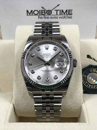 Rolex Datejust 36 Silver Diamond Dial 116234