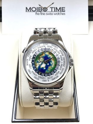 Patek Philippe 950PT Platinum Enamel World Time 5131/1P-001