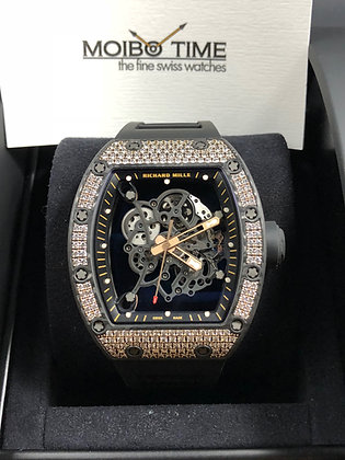 Richard Mille RM055 Bubba Watson 18K Red Gold Carbon TPT 200 Med Diamonds Set