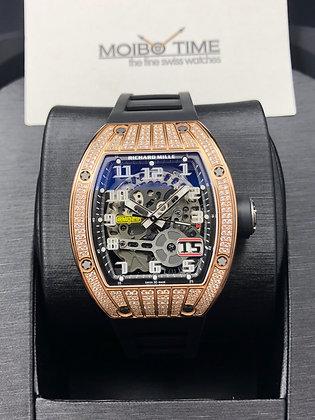 Richard Mille RM029 Red Gold Big Date Automatic Diamonds Medium Set