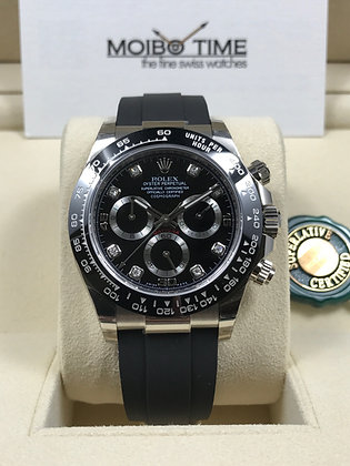 Rolex Cosmograph Daytona 18ct White Gold Black Diamonds Dial 116519LN