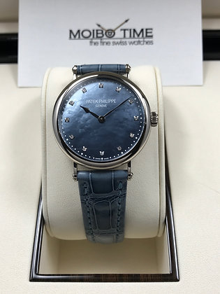 Patek Philippe 18ct White Gold Blue MOP Dial NY Limited Edition 7200/50G-011