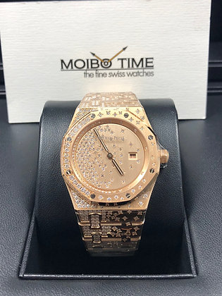 Audemars Piguet Royal Oak Lady Quartz 18K Pink Gold Diamond Set 67654OR