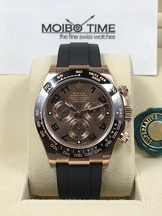 Rolex Cosmograph Daytona 18ct Everose Gold Chocolate Dial 116515LN