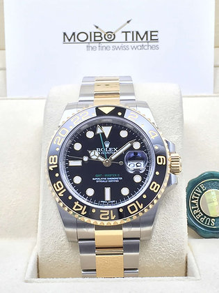 Rolex GMT-Master II Yellow Gold Steel Two-Tone 116713LN