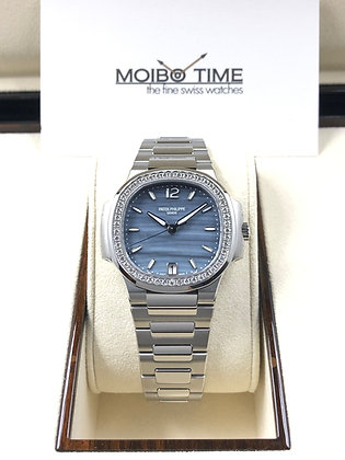 Patek Philippe Nautilus Diamonds Blue MOP 7018/1A-010