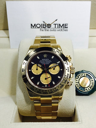 Rolex Yellow Gold Paul Newman Black Cosmograph Daytona 116508