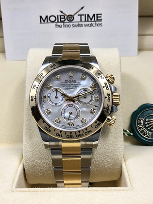 Rolex Cosmograph Daytona White Mother of Pearl Diamond Dial 116503