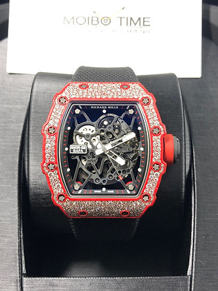 Richard Mille RM35-02 Rafael Nadal Red Quartz TPT Diamonds Set