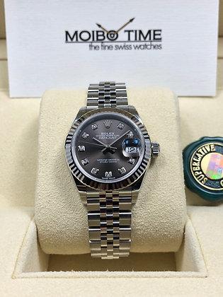 Rolex Datejust 28mm Grey Diamond Dial 279174G