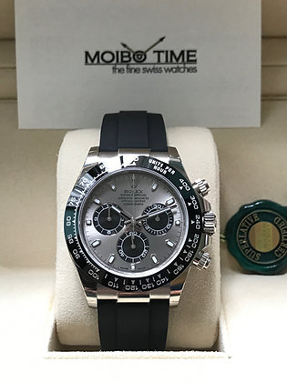 Rolex Cosmograph Daytona 18ct White Gold Steel Coloured Dial 116519LN
