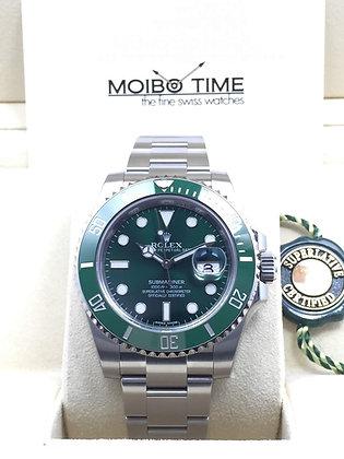 "Rolex Black Submariner Date ""Hulk"" 116610LV"