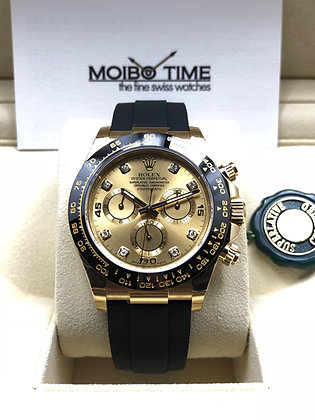 Rolex Yellow Gold Champagne Diamonds Daytona 116518LN