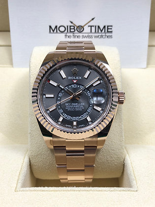 Rolex 18ct Everose Gold Sky Dweller 326935