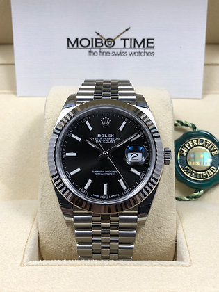 Rolex Datejust II Black Index Dial 126334