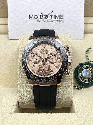 Rolex Cosmograph Daytona 18ct Everose Gold Baguette Diamonds Dial 116515LN