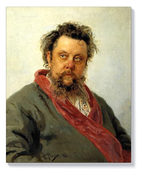Иля Репин – Портрет на композитора Мусоргски