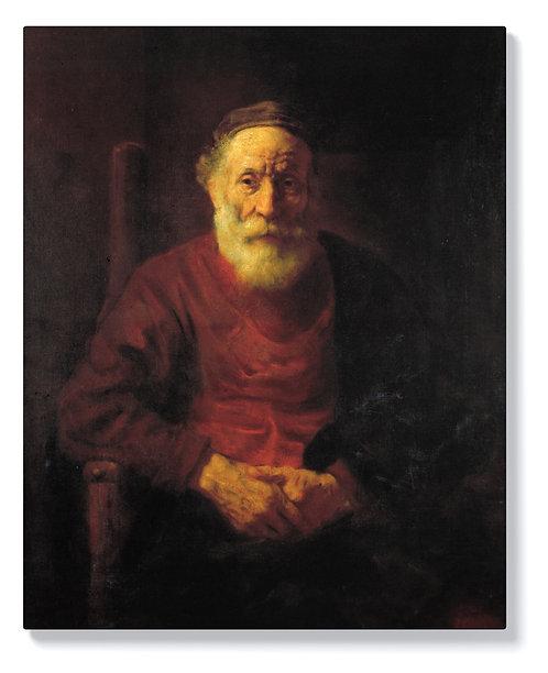 Рембранд - Портрет на старец в червено