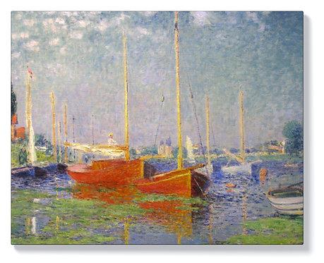 Клод Моне - Червени лодки в Аржантьой