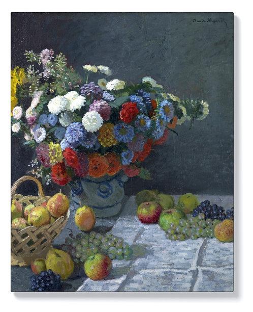 Клод Моне - Натюрморт с цветя и плодове