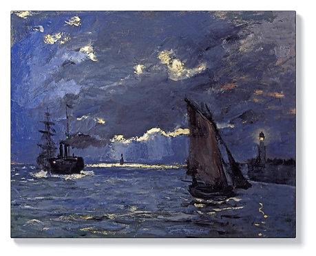 Клод Моне - Корабоплаване на лунна светлина