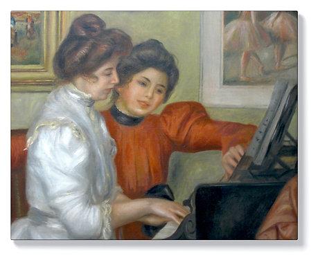 Реноар - Ивон и Кристин ла Рош на пианото