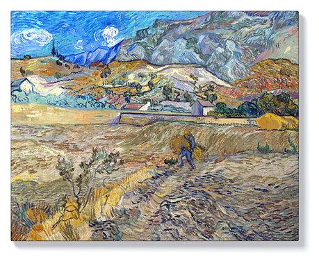 Ван Гог - Заградено поле и селянин