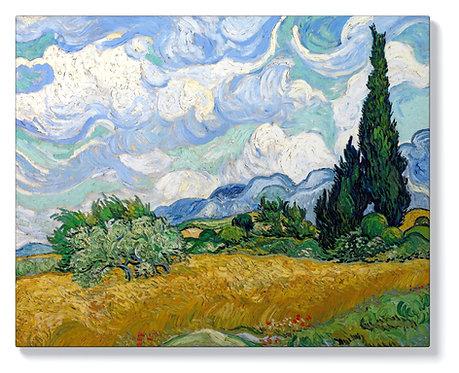 Ван Гог - Житно поле с кипариси