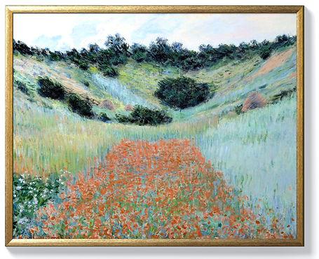 Monet - Poppy field near Giverny - Gold.