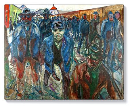 Едвард Мунк - Работници на път за вкъщи