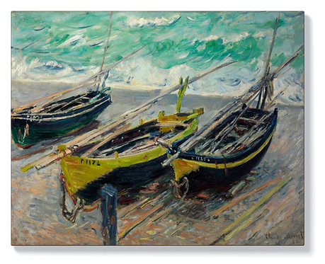 Клод Моне - Три рибарски лодки