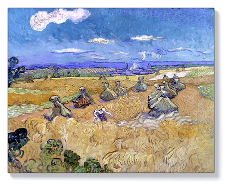 Ван Гог - Жътва на пшеничните полета край Овер
