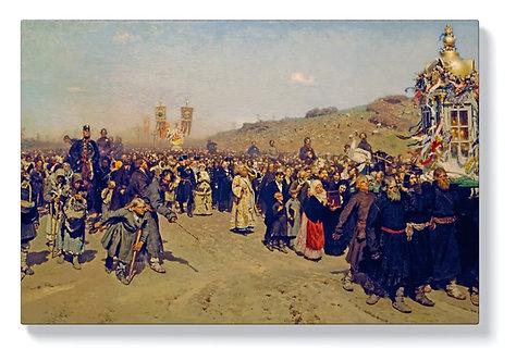 Иля Репин – Религиозно шествие в провинция Курск