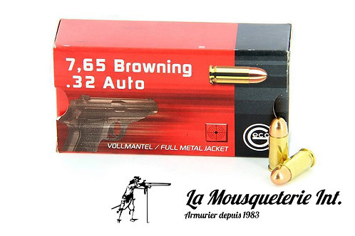 50 Cartouches Geco 7,65 Browning FMJ Round noise 73grs