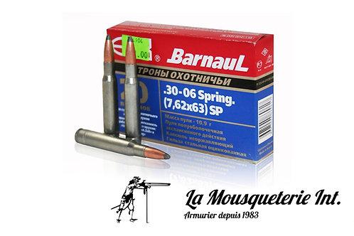 20 cartouches 30-06 sprg Barnaul 140grs SP