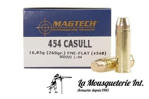 20 Cartouches 454 casull Magtech 260grs FMJ