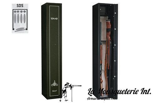 Armoire forte 5 armes dont 4 avec lunettes Infac Sentinel
