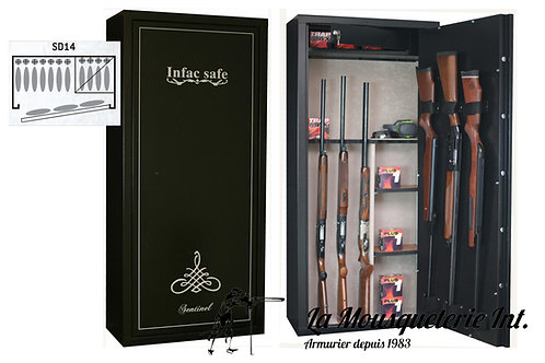 Armoire forte 14 armes Infac Sentinel