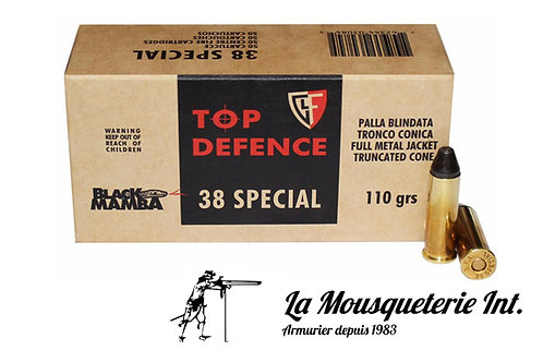 50 Cartouches 38 spl Black mamba 110grs