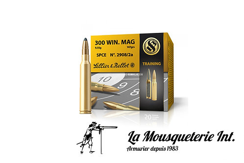 40 Cartouches Sellier & Bellot Training 300win mag 180grs Spce