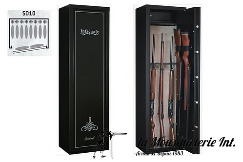Armoire forte 10 armes Infac Sentinel