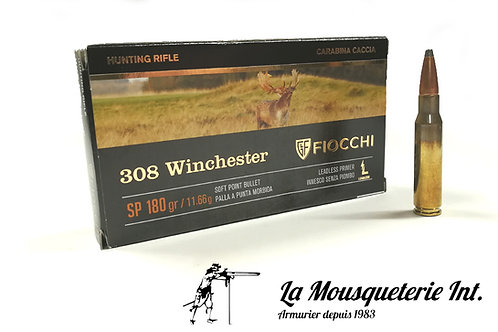 Fiocchi 308 win hunting rifle 180 grs SP